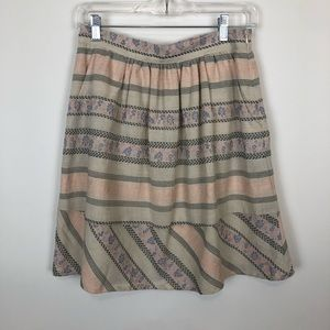 Anthropologie comme toi circle a line ruffle skirt